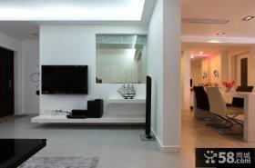 现代简约客厅电视背景墙隔断效果图