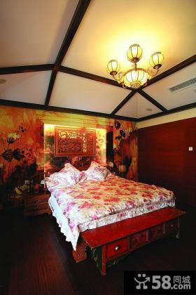 中式古典明清风格卧室设计