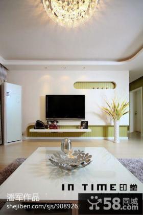 现代风格瓷砖电视背景墙