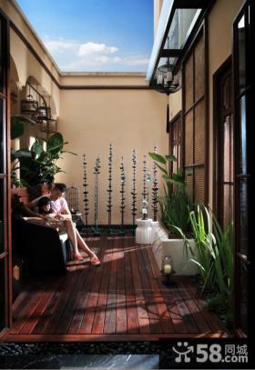 中式风格家庭阳台图片