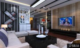 黑与白之间的对比电视背景墙装修效果图大全2012图片