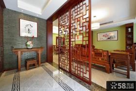 中式古典玄关装潢效果图