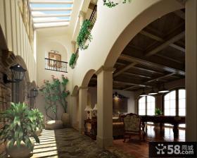 托斯卡纳风格别墅客厅装修效果图大全2014图片