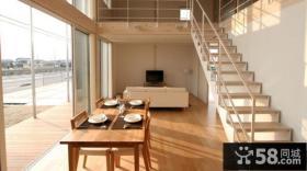 日式复式房屋家用餐厅装修