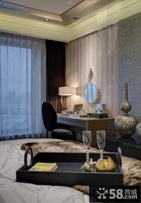 美式新古典风格卧室窗帘效果图