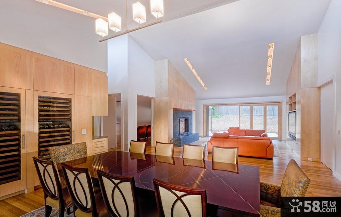 2014最新别墅装修 客厅餐厅装修效果图