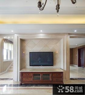 简约美式瓷砖背景墙设计