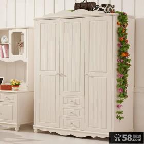 欧式家庭四门衣柜设计图片