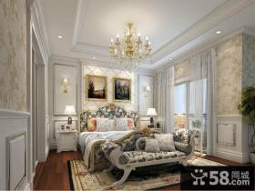 欧式奢华的卧室厅背景墙装修效果图大全2012图片
