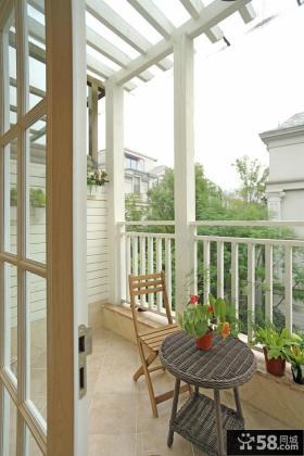美式风格家居阳台装修设计