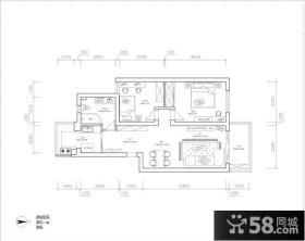 70平米两室一厅户型图