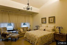 美式田园家装主人卧室效果图片