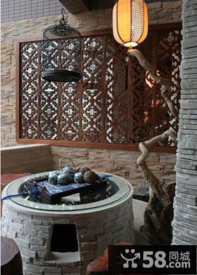 中式阳台图片