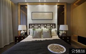 现代风格卧室床头背景墙设计