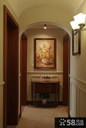 美式家居玄关装饰油画图片