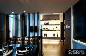 室内客厅与餐厅隔断装修效果图片