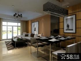 现代客厅餐厅装修设计图片