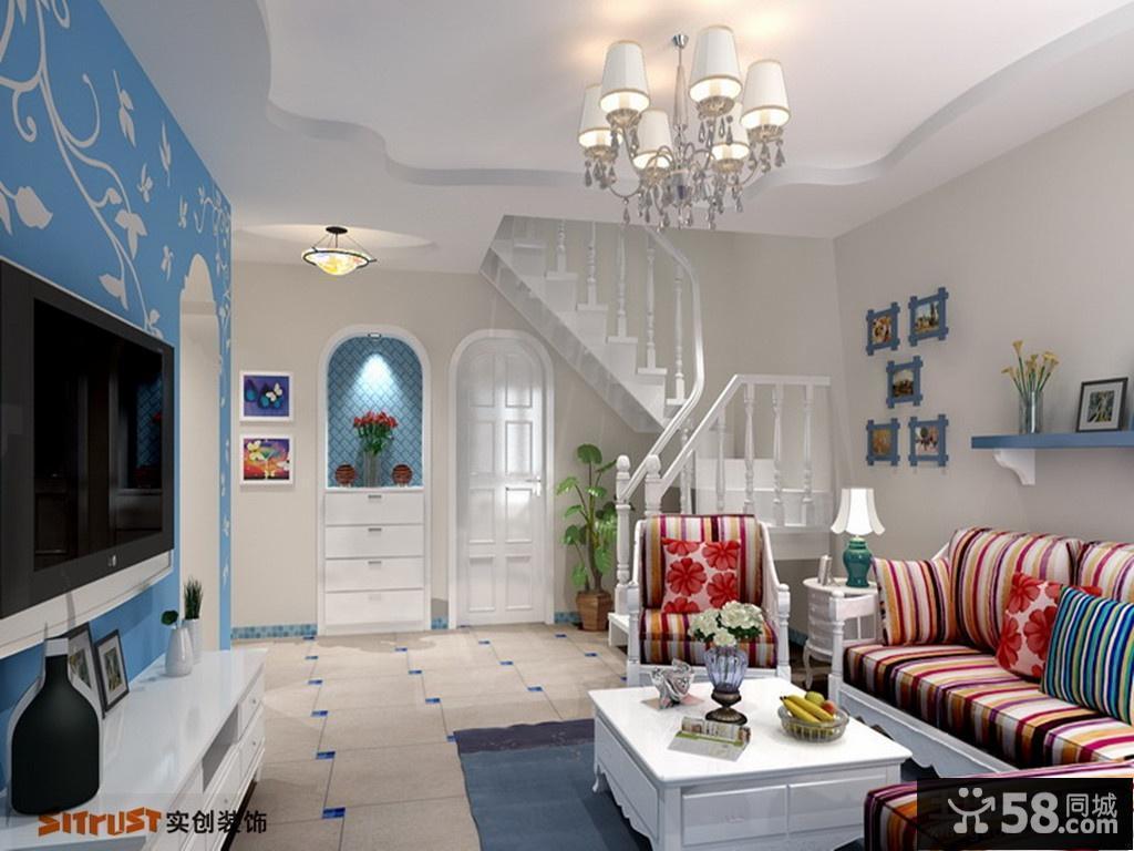 吊顶装修效果图客厅-客厅吊顶装饰400例/客厅石膏线图