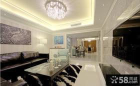 家装客厅吊顶设计效果图