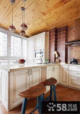 家居阳台改厨房装修效果图欣赏