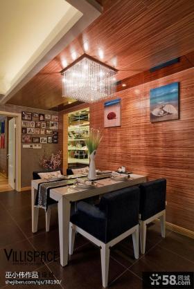 现代简约风格餐厅背景墙效果图
