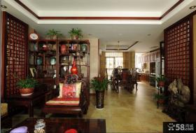 中式客厅玄关装修设计图片