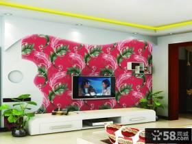 客厅电视背景墙壁纸贴图