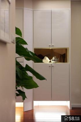 现代简约玄关白色鞋柜图片