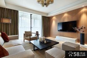 现代风格家居两室两厅装修效果图大全2014图片