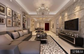 现代风格l型长方形白色厨房橱柜装修图片 瓷砖装修效果图
