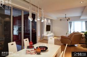 小户型客厅餐厅吊灯一体设计