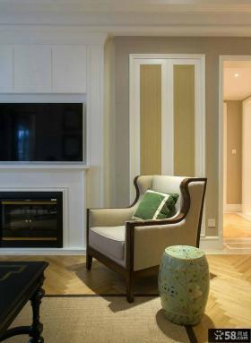 美式别墅设计室内沙发装修图片