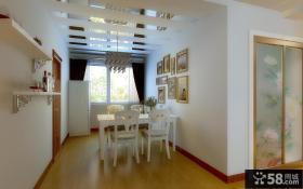 60平方客厅简欧风格餐厅玄关装修效果图