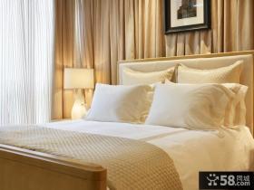 简欧风格三室两厅卧室窗帘装修效果图大全2012图片