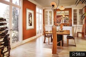 欧美风格暖色调客厅壁炉背景墙装修效果图