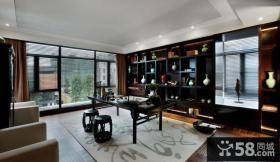 豪华中式新古典书房装修设计