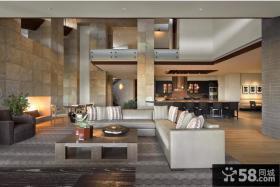 复式阁楼客厅装修效果图大全2013图片