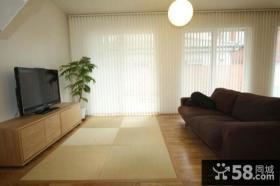 简易风格客厅电视背景墙效果图