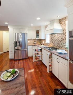 简欧式厨房装修效果图大全2013图片