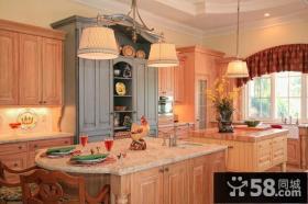 复式楼田园风格厨房橱柜装修效果图大全2012图片