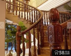 室内旋转楼梯扶手设计效果图