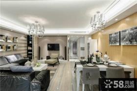 北欧家装设计室内客厅电视背景墙效果图
