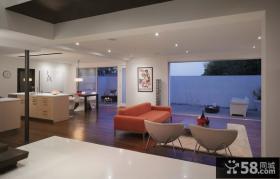 复式楼装修效果图 现代风格客厅装修效果图