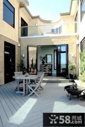别墅露天阳台装修效果图