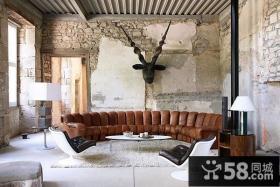 西班牙艺术家创意复式楼客厅装修效果图大全2012图片