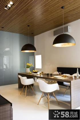 现代风格一居大户型餐厅吊灯设计