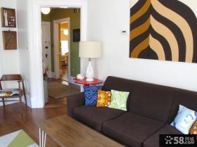 美式乡村风格家装客厅背景墙装修效果图