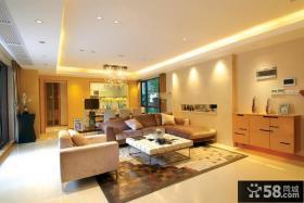 现代简约大户型客厅装修设计效果图