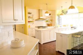 欧式简约开放式整体厨房装修效果图大全