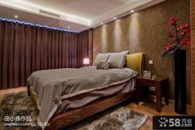 现代简约风格卧室窗帘装修效果图大全